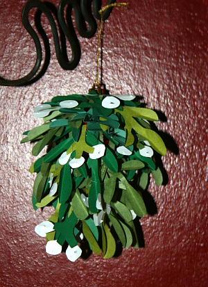 Palla di vischio per baci di Capodanno