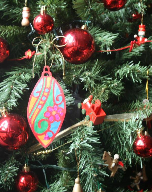 Addobbi natalizi fai da te PALLINA PER L'ALBERO DI NATALE