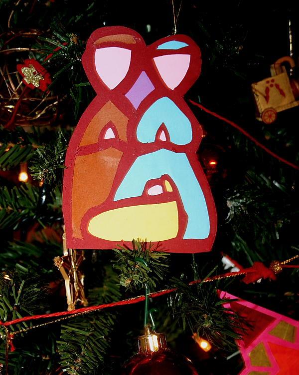 Addobbi natalizi fai da te NATIVITÀ STILIZZATA