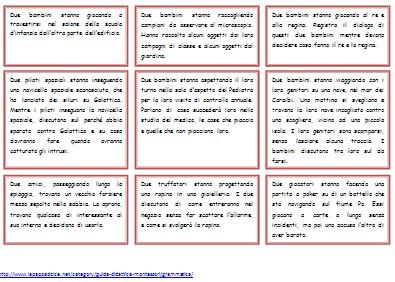 Cartellini di idee per scrivere dialoghi