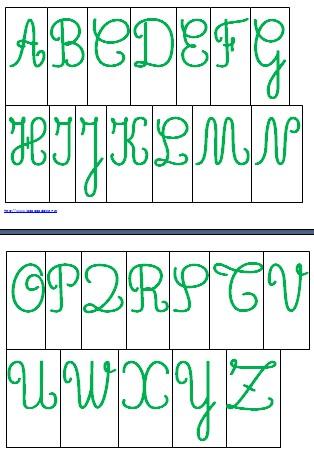 alfabeto mobile MAIUSCOLO scuola primaria VERDE