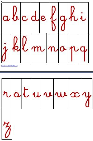 alfabeto mobile scuola primaria rosso