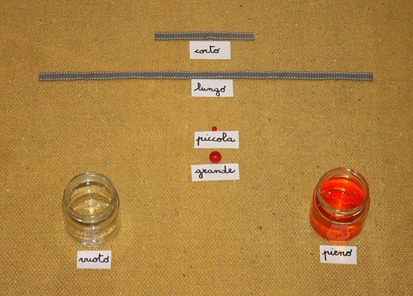 antonimi o contrari Montessori 10