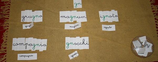 Digrammi e trigrammi col metodo Montessori