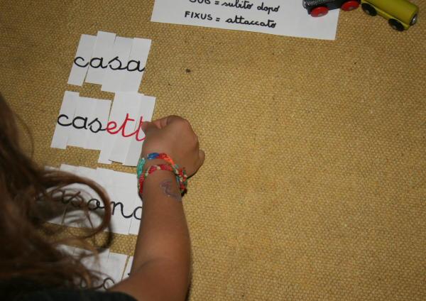 Formazione delle parole e suffissi col metodo Montessori