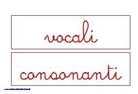 vocali e consonanti
