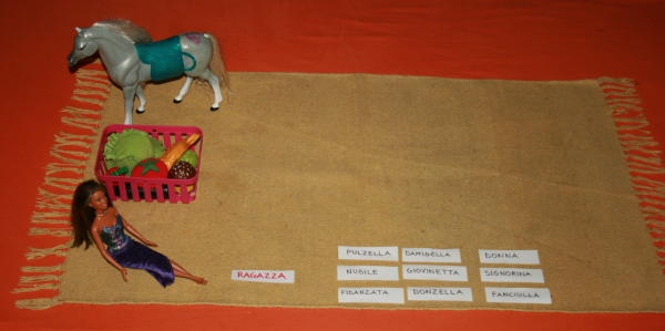 Famiglie di parole col metodo Montessori