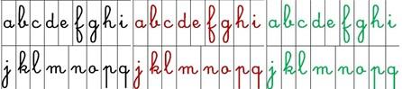 alfabeti mobili Montessori colorati