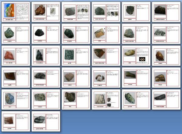 Il ciclo delle rocce con nomenclature Montessori