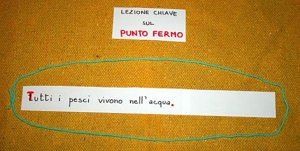 Segni di interpunzione col metodo Montessori IL PUNTO FERMO