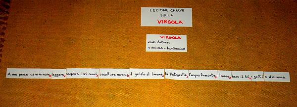 Segni di interpunzione col metodo Montessori LA VIRGOLA