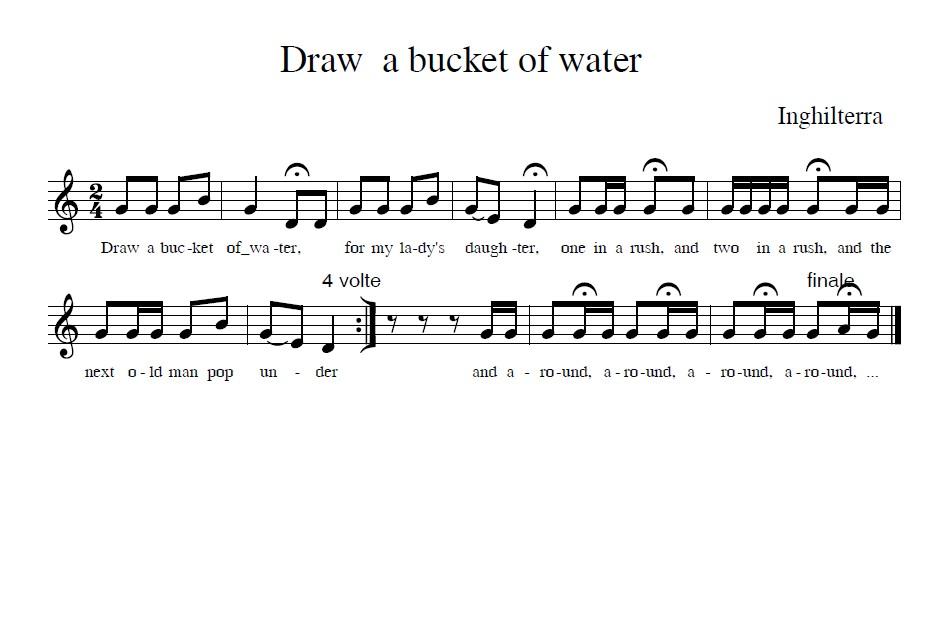 Gioco cantato Draw a bucket of water