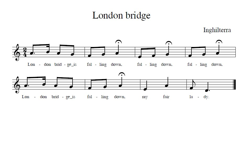 Gioco cantato London bridge