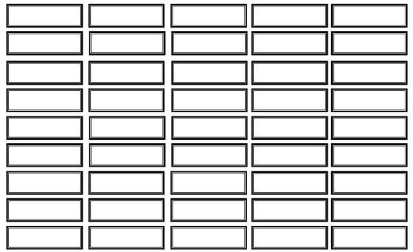 NOME cartellini per le scatole grammaticali IN BIANCO