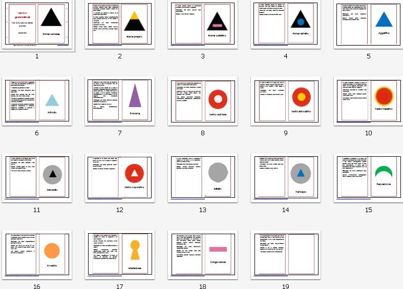 libro dei simboli grammaticali SECONDO LIVELLO