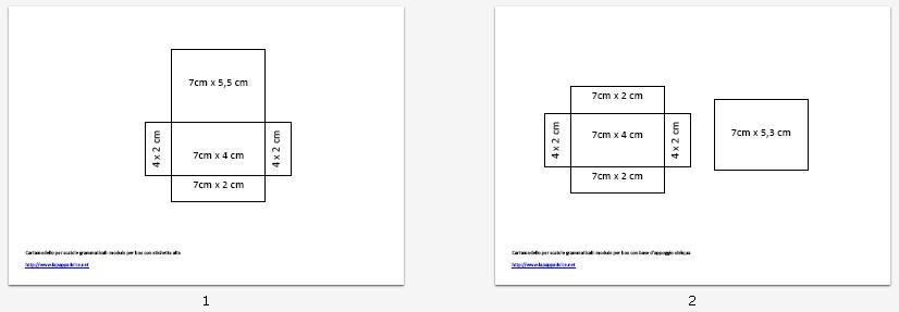 modello scatole grammaticali