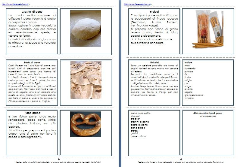 libretto per le nomenclature 6-9 CEREALI E PANE15
