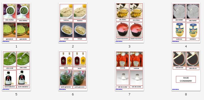 nomenclature 3-6 anni SALSE E CONDIMENTIa 181