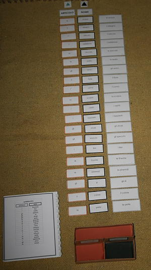 scatola grammaticale I 12