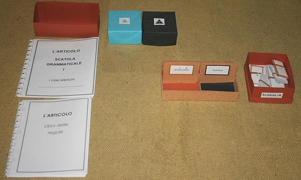 scatola grammaticale I 3