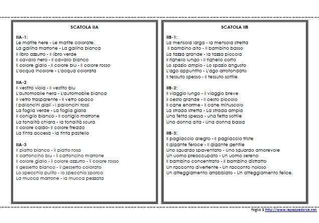 libro degli elenchi scatola grammaticale II 24