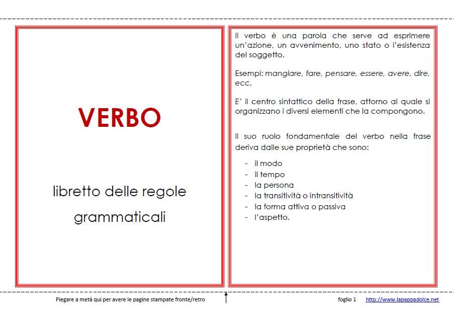 libro delle regole VERBO 16