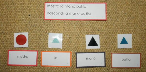 Psicogrammatica Montessori scatola grammaticale III esercizi e presentazioni