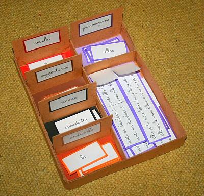 scatola grammaticale IV 1 PREPOSIZIONE