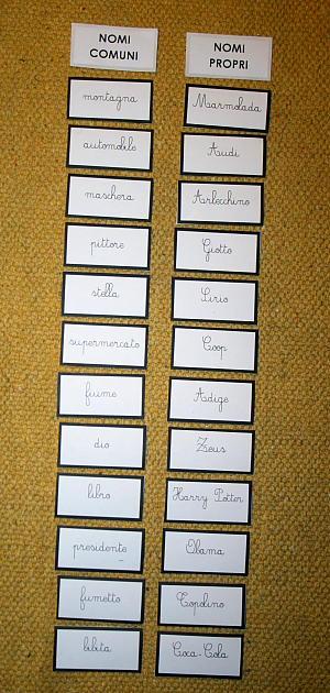nome comune e proprio 5