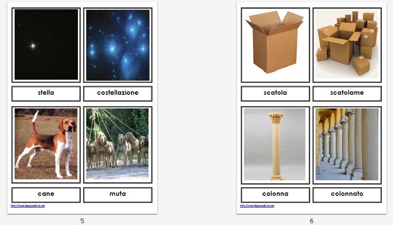 presentazione NOMI INDIVIDUALI e COLLETTIVI carte illustrate 104
