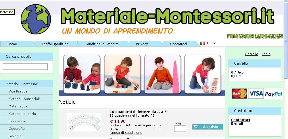 materiali Montessori economici