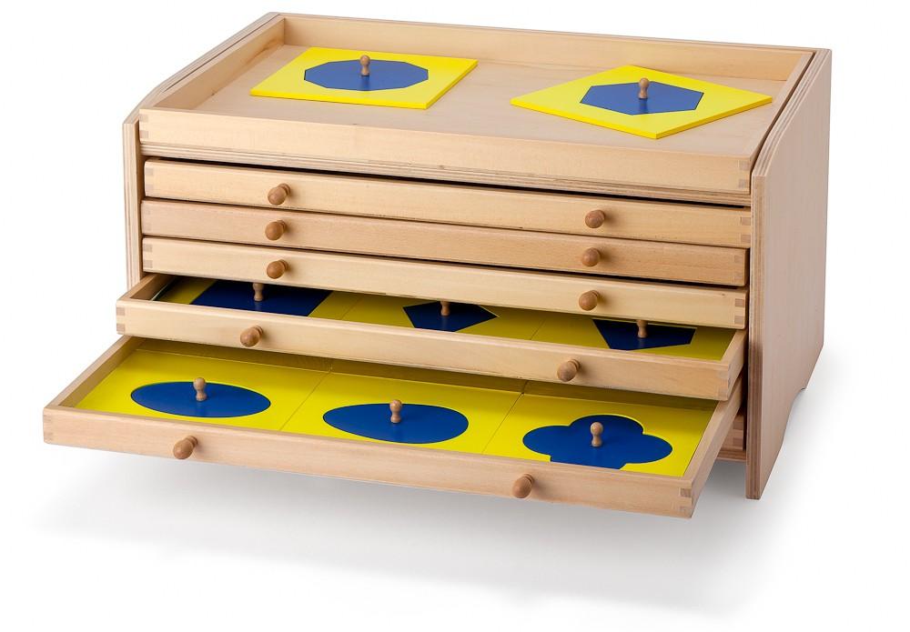 armadietto delle figure geometriche Montessori