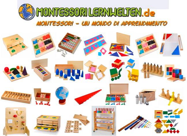 Acquisto online di materiali montessori economici e belli for Materiali da costruzione economici