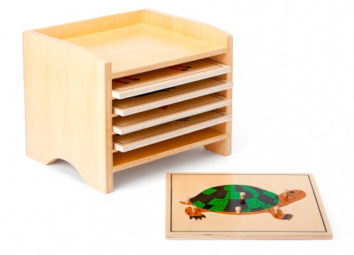 cofanetto di 5 puzzle biologia animali