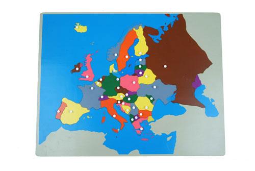 puzzle Montessori dell'Europa