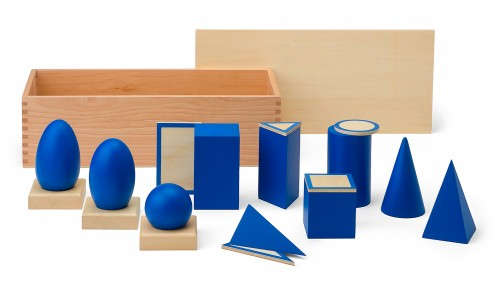solidi geometrici e figure piane Montessori