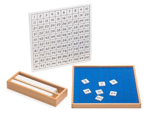 tavola del 100 Montessori