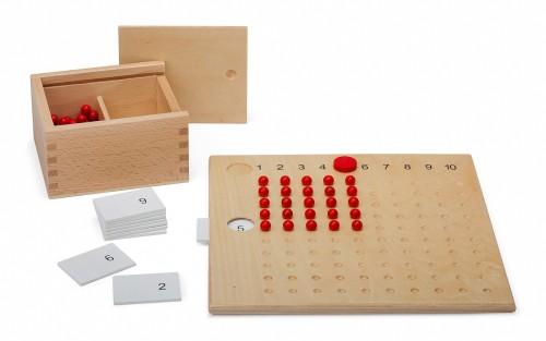 tavola della moltiplicazione con perle