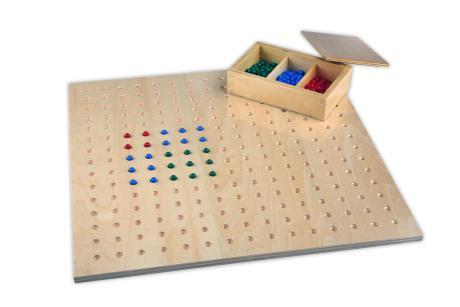 tavola per la radice quadrata con perle