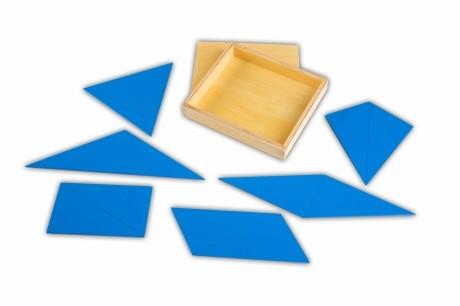 triangoli blu Montessori