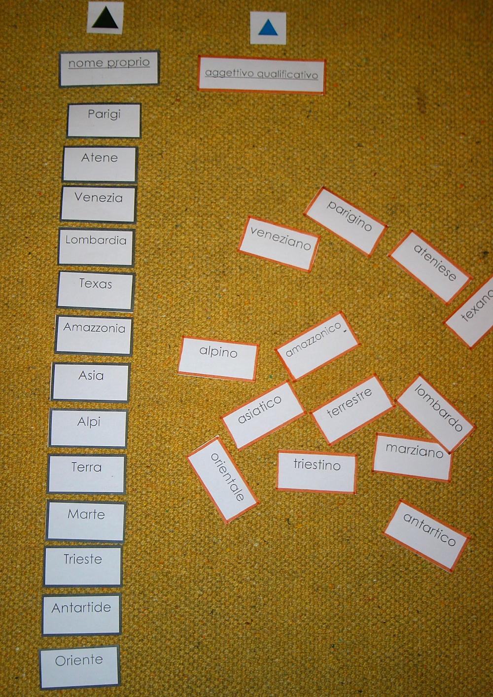 aggettivo Montessori 12