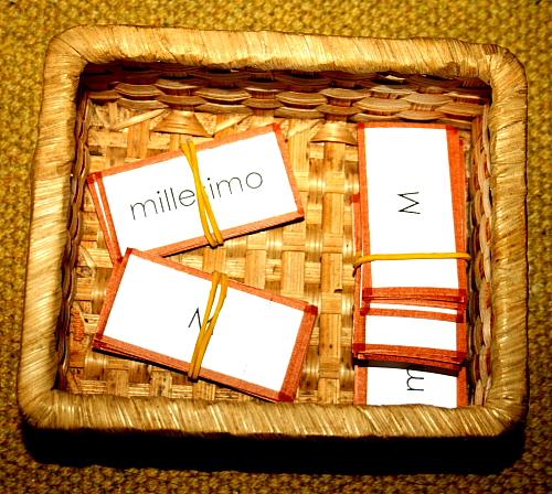 aggettivo numerale Montessori 1