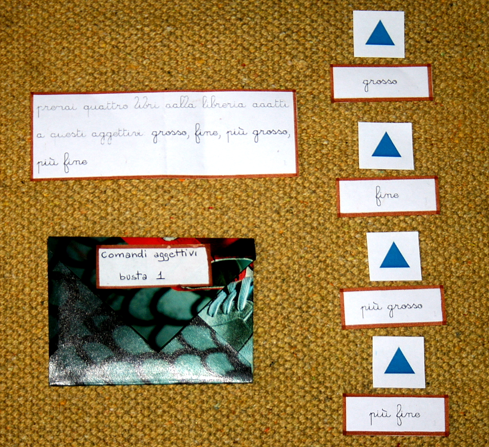 comandi aggettivi Montessori 4