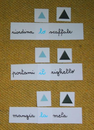 funzione articoli Montessori 3