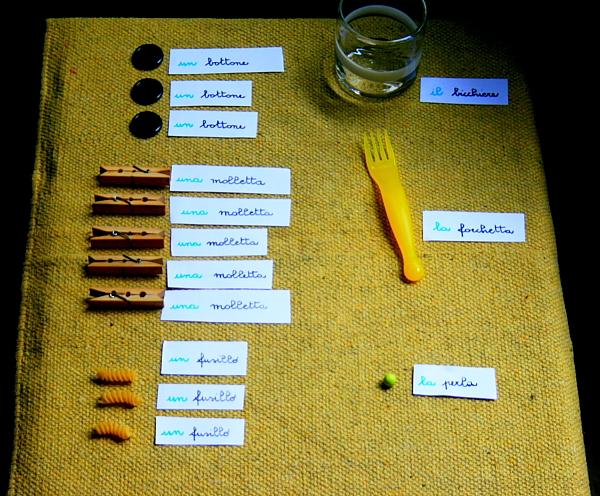 Psicogrammatica Montessori: funzione dell'articolo