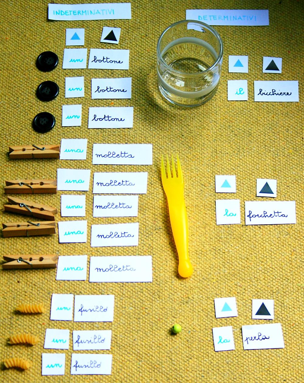 funzione articoli Montessori 8