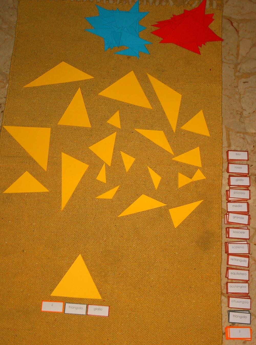 Psicogrammatica Montessori: giochi logici per l'aggettivo