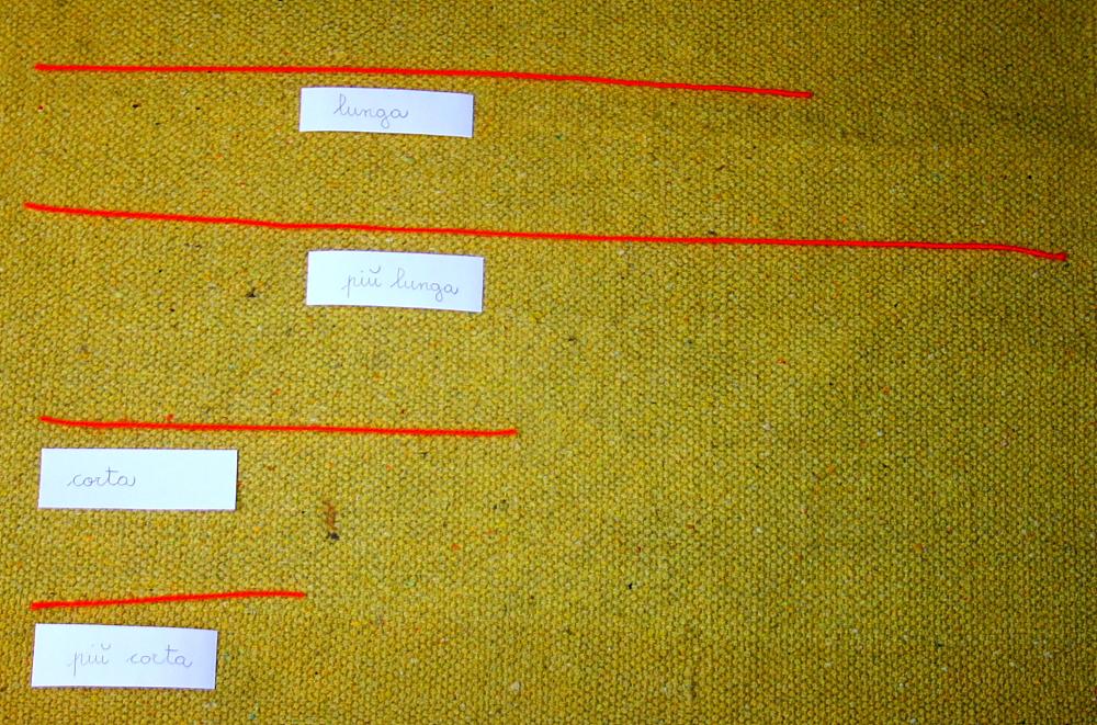 grado aggettivo Montessori 3