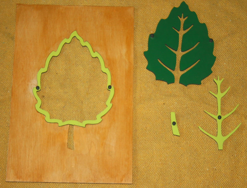 incastro foglia Montessori 3