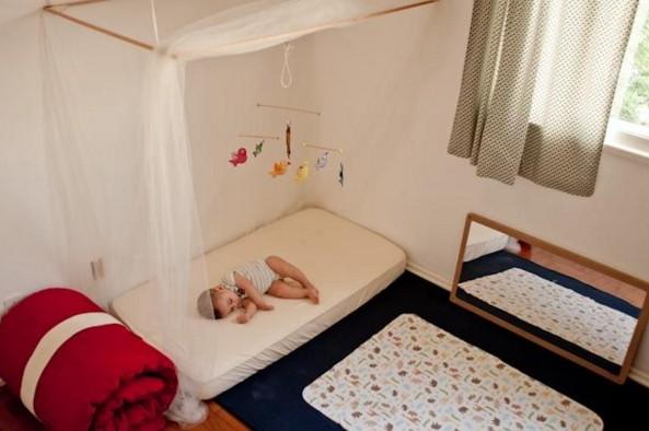 Letto Per Bambini Montessori : Letto in legno e cameretta a misura di bambino vivere zen